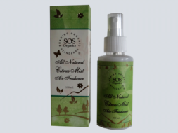 SOS Organics - All Natural Citrus Mist Air Freshener with uplifting essential oils.