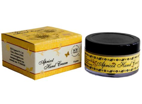 SOS Organics Himalayan Apricot Hand Cream, a rich moisturising cream.