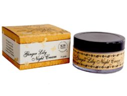 SOS Organics Ginger Lily Night Cream with a clean sweet floral fragrance.