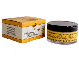 SOS Organics Mandarin Body Butter, a rich body cream, that will keep you feeling fresh all day long.
