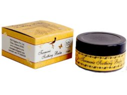 SOS Organics soothing Himalayan Turmeric Soothing Balm with powerful healing oils.