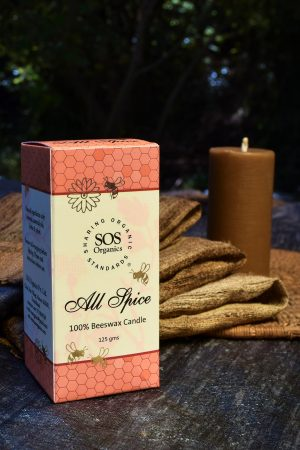 Allspice 100% Beeswax Candle