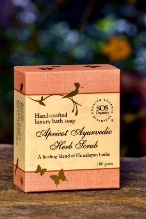 Apricot Ayurvedic Herb Scrub Soap
