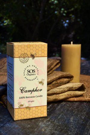 Camphor 100% Beeswax Candle