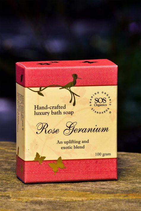 Rose Geranium Luxury Bath Soap